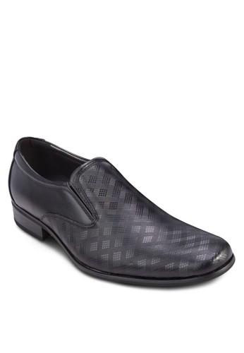 格紋拼接商務皮鞋, 鞋,esprit專櫃 鞋