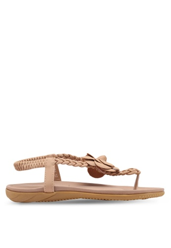 Mimosa beige Pleated Sandals D7F58SH1976831GS_1