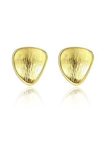 SUNRAIS gold High quality Silver S925 gold simple design earrings F9F36AC79101D6GS_1