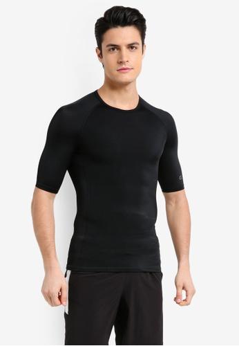 Calvin Klein black Compress Short Sleeve Tee - Calvin Klein Performance F50FFAAC7BAEF2GS_1