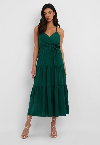 FORCAST green FORCAST Tia Tiered Maxi Dress 6FDF1AA9AF1B33GS_1