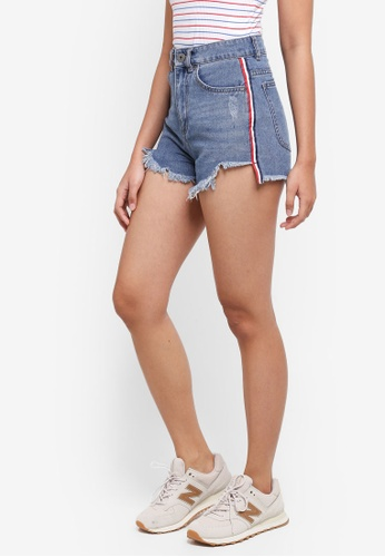 Factorie blue Mom Shorts 8CDC3AA85A1460GS_1