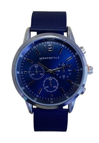 Aeropostale blue Sunray Mesh Chronograph Watch 51AB5AC979E284GS_1