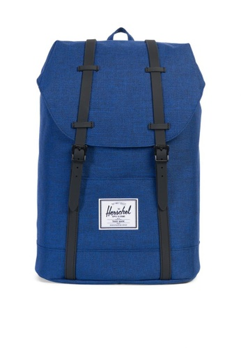 Herschel blue Retreat Weather Pack Backpack HE958AC0K9YKPH_1