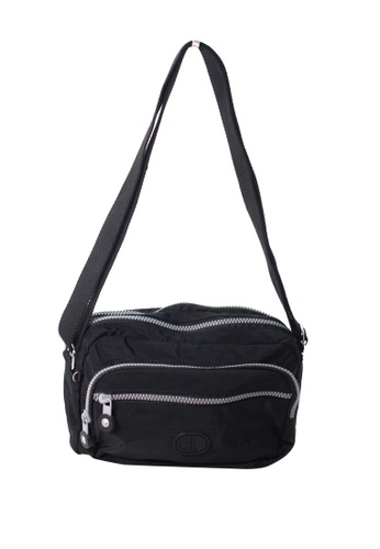 G.DAVIN black G.Davin Nylon Crossbody bag 02A1BACE814A8CGS_1