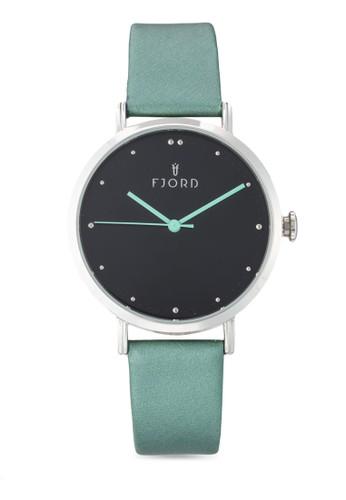 Dotta簡約皮革圓框手錶esprit 旺角, 錶類, 飾品配件
