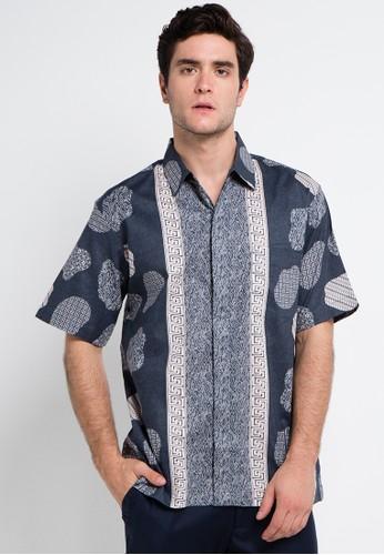 bhatara batik blue and multi Black Shirt BH237AA0VMGUID_1