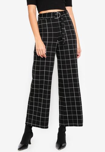 6604d9ba7c06a checked wide-leg trousers Pants