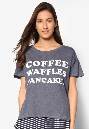 文字印花短袖T-shirt、 服飾、 睡衣CottonOnBody文字印花短袖上衣最新折價