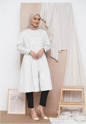 Zalima Zalima Jasmin Long Shirtdress 2-in-1 style in White BC1DDAAE0A6CACGS_1