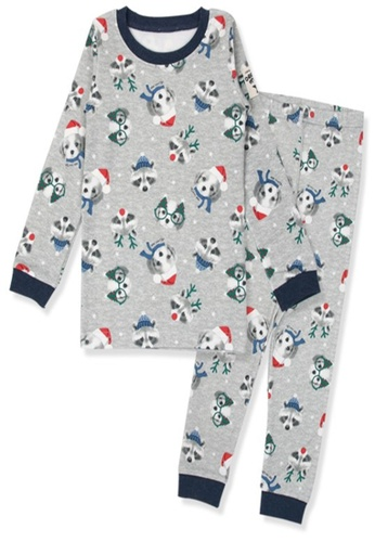 Organic mom grey Organic boys Christmas Puppies Home-wear Pajamas FEF29KA87F87E3GS_1