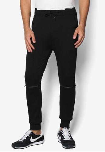 拉鍊飾品牌慢跑休閒長褲, esprit 雨傘服飾, 直筒褲