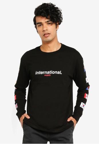 Cotton On black T-bar Long Sleeve Tee 396F7AAAC78274GS_1
