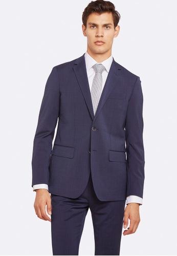 Oxford blue Auden Wool Stretch Suit Jacket 71EE9AABC49718GS_1