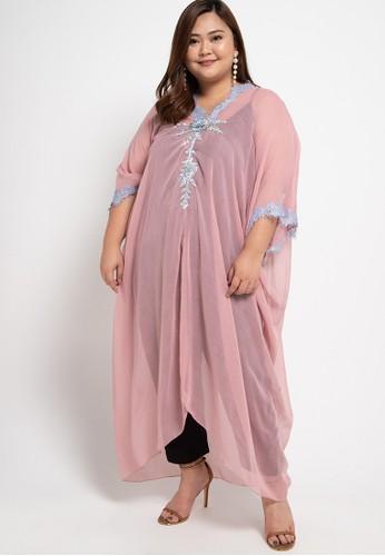 LUIRE by Raden Sirait pink Plus Size MS Cetar V VP B8A31AA3986DA0GS_1