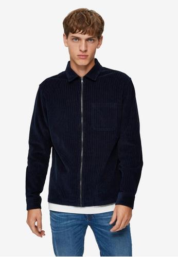 Selected Homme 海軍藍色 Cord Zip Overshirt 9C1E1AA0839426GS_1