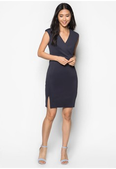 Collection Cross Front Pencil Dress