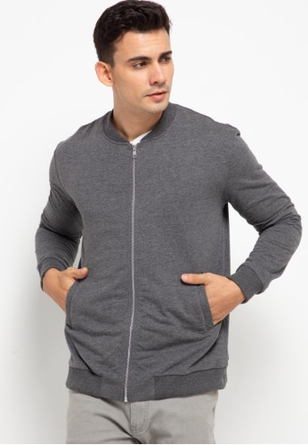Tolliver grey Relaxed Bomber Jacket 18DC0AA864B0A8GS_1