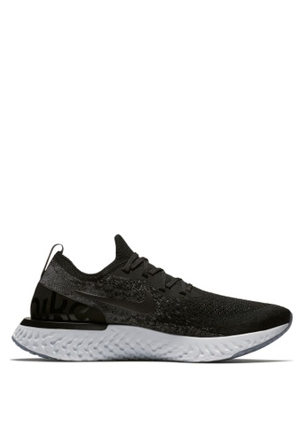Nike black and grey Mens Nike Epic React Flyknit Running Shoes  A4F0ASH2EFA623GS1
