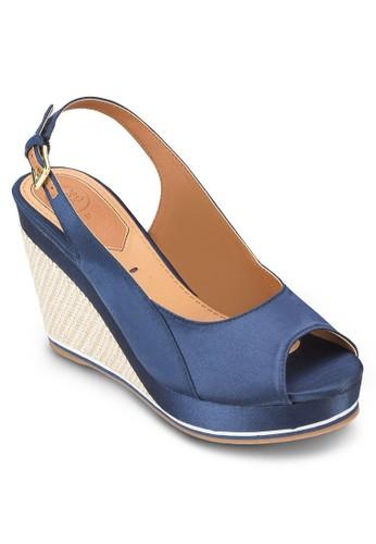 Isora 露趾繞踝麻編楔esprit hong kong 分店形涼鞋, 女鞋, 鞋