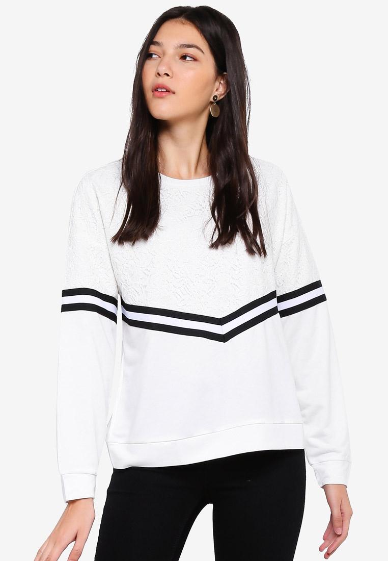 YONG DE Dancer JACQUELINE Cloud Alma Dtm Lace Sweatshirt Lace Yx5HwHqP