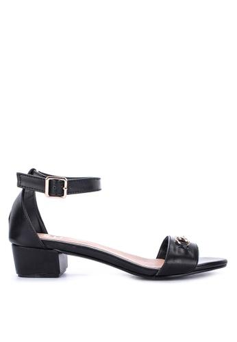 S&H black Amelie Heeled Sandals 066C5SHD5481AEGS_1