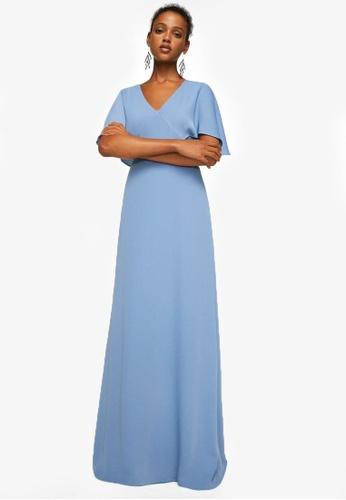 Mango blue Ruffled Sleeve Dress MA193AA0RV14MY_1