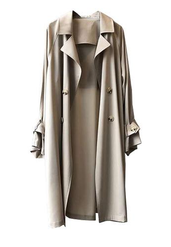 Twenty Eight Shoes brown VANSA Lapel Collar Trench Coat  VCW-T0719 5D79BAA3E713B3GS_1