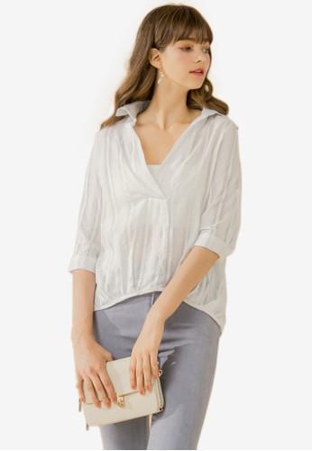 Eyescream white Relaxed Fit Stripe Shirt A4710AAEAF0711GS_1