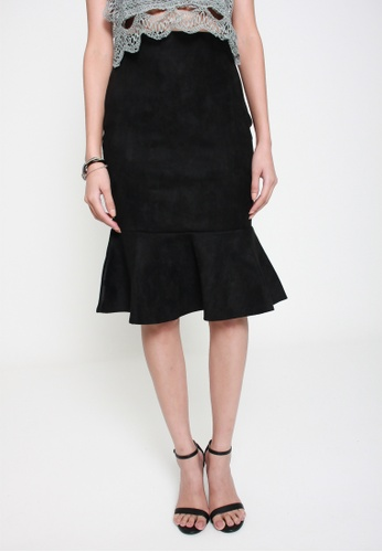 Sophialuv black Under The Sea Mermaid Skirt in Black E2B17AA94FFF34GS_1
