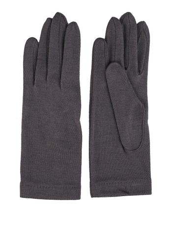 GLOBAL WORK grey Classic Knit Gloves C2652ACB286037GS_1