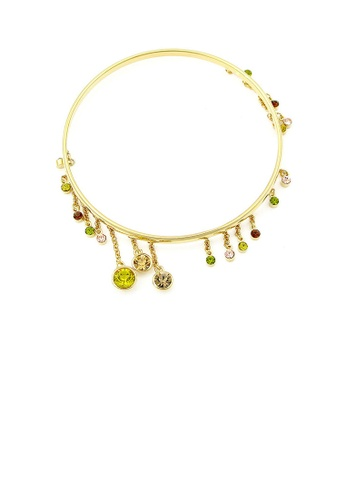 Glamorousky multi Enchanting Bangle with Multi-colour Austrian Element Crystals F8B27ACA210DCCGS_1