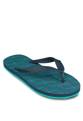 zalora 手錶Geometric Flip Flops, 鞋, 鞋