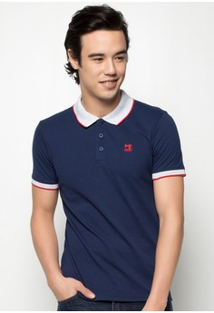 Slim Fit Combi Polotee