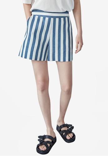 NAIN 藍色 Summer Striped Shorts 566DFAAE41ECD9GS_1