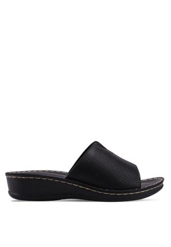 Noveni 黑色 休閒楔型鞋 7A010SH4E1963AGS_1