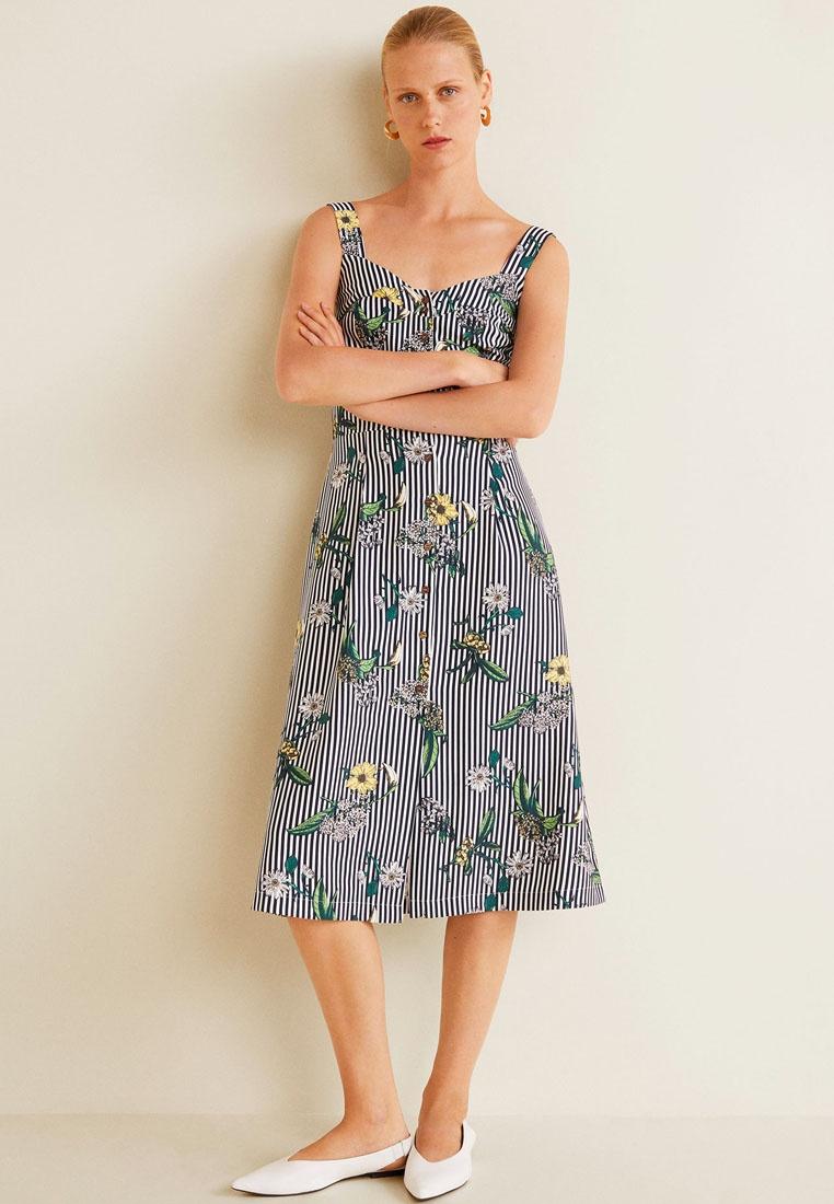 Printed Mango Navy Dress Mango Navy Dress Printed x6rwf6ST0q