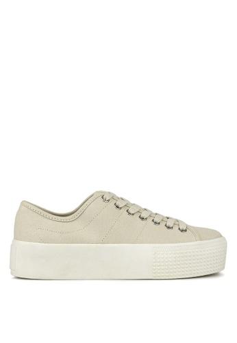 Betts grey Weekend Flatform Sneakers 37BE9SHB80E954GS_1