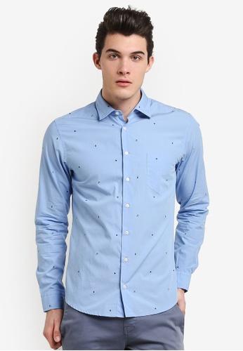 Boss Orange blue Epop Shirt BO434AA0RIDHMY_1