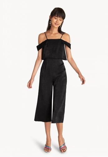 c5db64d328c3 Buy Pomelo Cold Shoulder Jumpsuit - Black Online on ZALORA Singapore