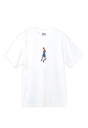 BSX white BSX Unisex's regular fit printed logo tee (Online exclusive) 43344AAB1C7F90GS_1