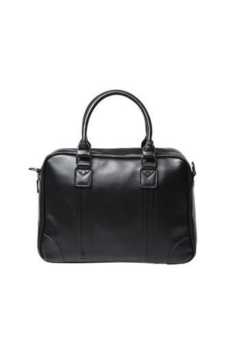 Lara black Plain Handle Briefcase - Black 28B44ACDF335F5GS_1