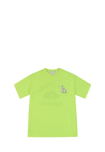 MLB green CHUNKY SHORT SLEEVE T-SHIRT NY YANKEES NEON 4F055AACBA350DGS_1