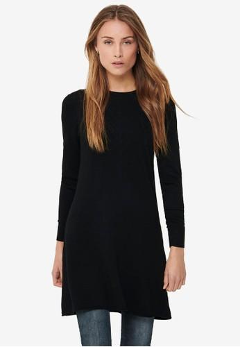 ONLY black Selina Long Sleeve Dress B8B2BAAF73EE61GS_1
