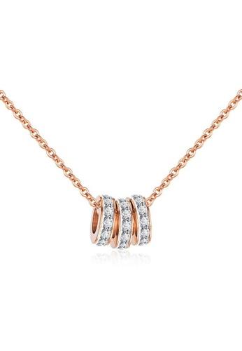 CELOVIS gold CELOVIS - Frillitaire Mini Tri-Rings Pendant Necklace in Silver B087EAC6FFCF9FGS_1