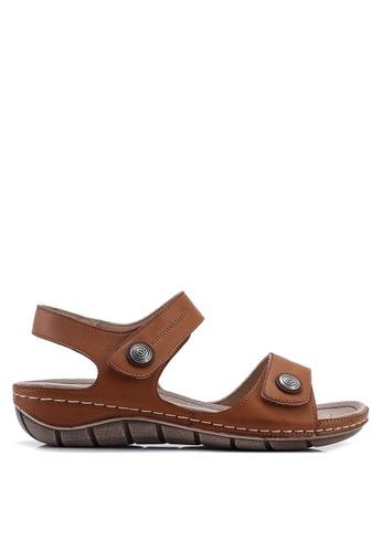 Noveni 褐色 仿皮涼鞋 C07C2SHE7A2A27GS_1