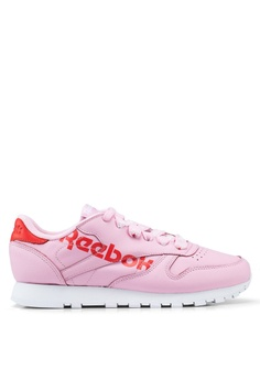 ad81ff45de19b Reebok pink Classic Cow Leather Shoes 7F950SHB5612ADGS 1