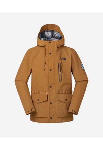 b3e277b9d The North Face Explorer Rain Coat Caramel Cafe