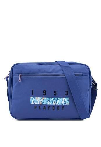 Playboy blue Printed Sling Bag 5FCF2ACBEF0494GS_1
