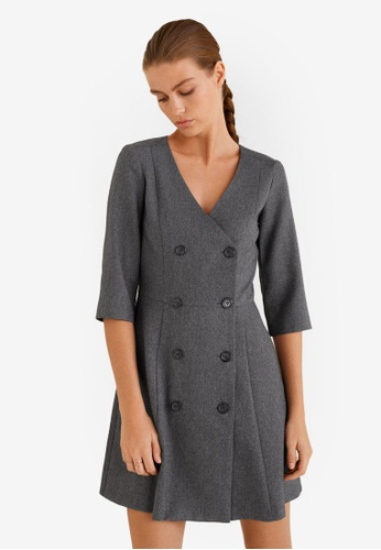 Mango grey Double-Breasted Dress 61824AAE567BB0GS_1